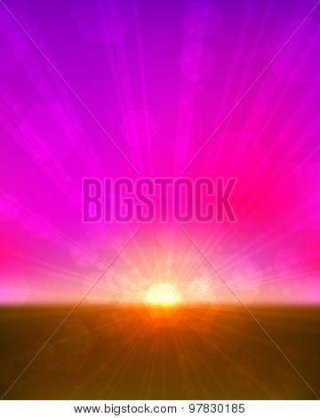 Pinkish sunset vertical background.