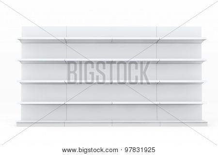 White Market Racks Shelves Showing Products
