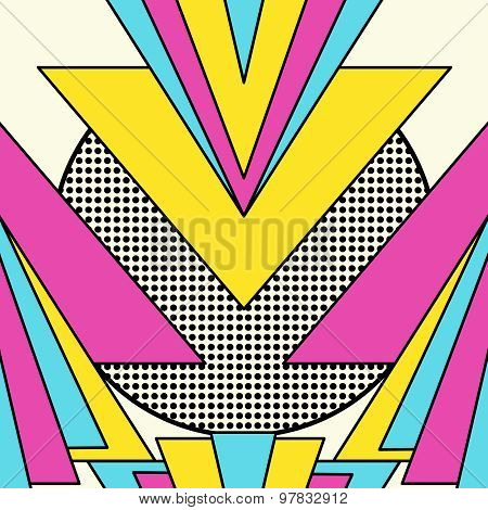 Retro 80S Geometric Pattern Background