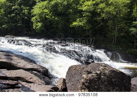 Adirondack Mountains Rocks and Rushing River - Raquette River