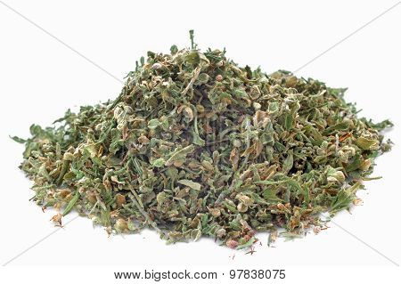 Dried Hemp Leaves With  Seeds