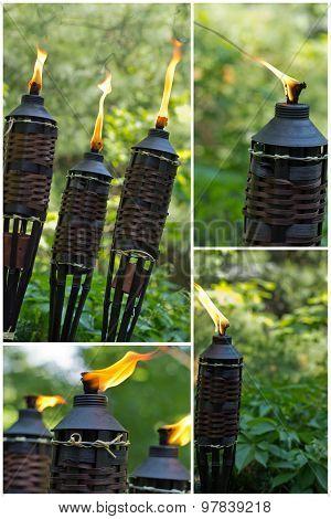Bamboo Citronella Torch