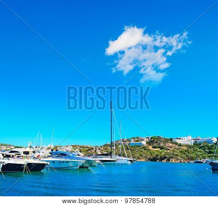 Luxury Yachts In Porto Cervo Dock