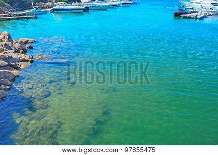 Boats In Porto Cervo Harbor
