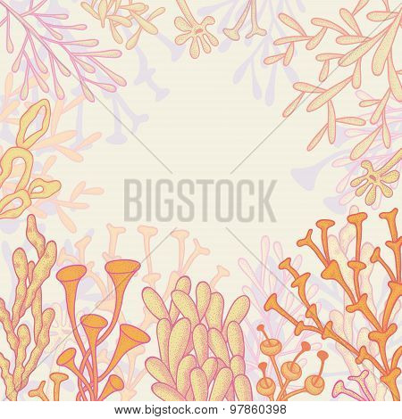 Abstract Background With Corals