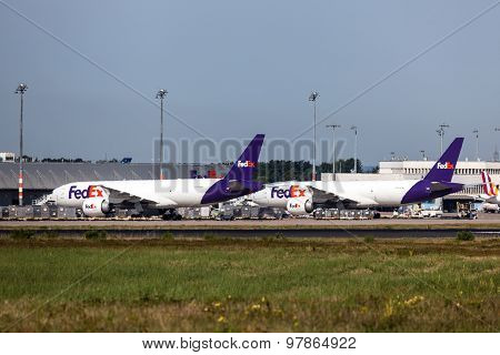 Fedex Airplanes At The Cargo Terminal
