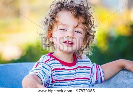 Baby Boy Exploring Outdoor