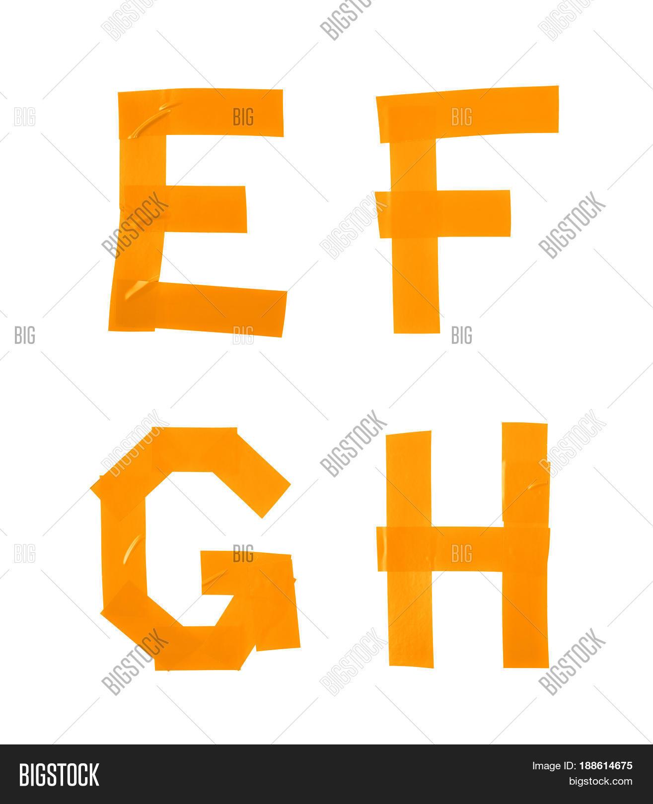Set E F G H Letter Image Photo Free Trial Bigstock