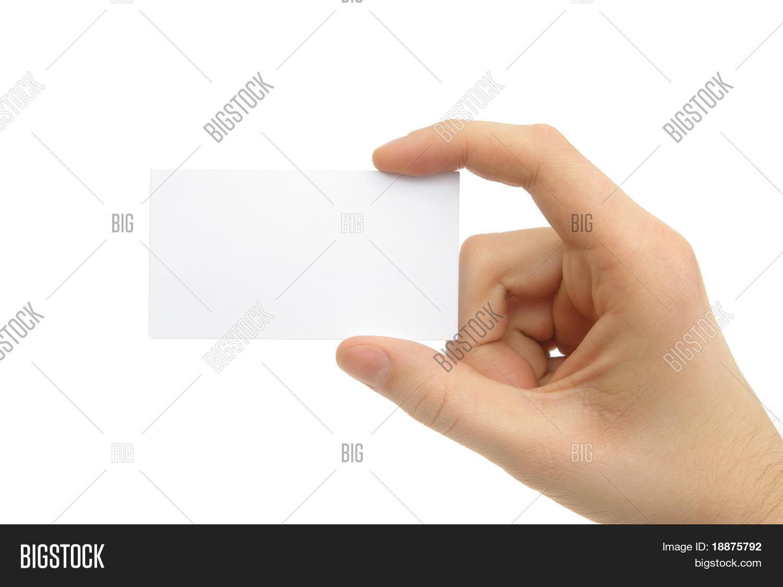 Hand Holding Blank Business Card Image & Photo | Bigstock