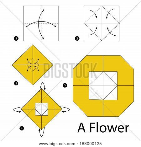 step by step instructions how to make origami A Flower.