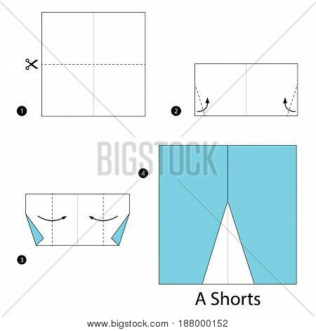 step by step instructions how to make origami A Shorts.