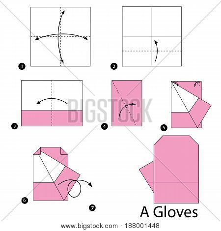 step by step instructions how to make origami A Gloves.