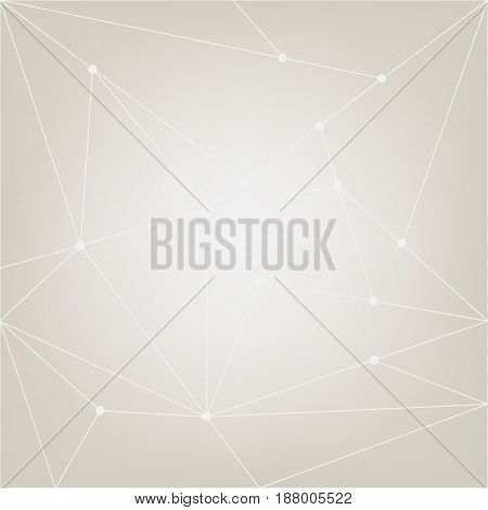 Abstract net vector background. Modern grey and white network pattern. Poly connection illustration. Contemporary infographic design elements