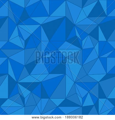 Abstract colored seamless pattern. Blue polygonal wallpaper. Vector illustration