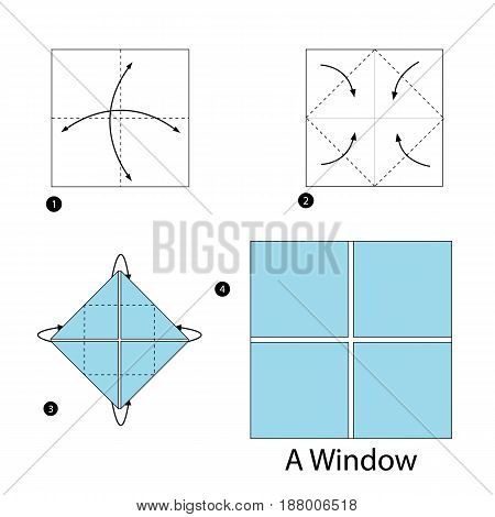 step by step instructions how to make origami A Window.