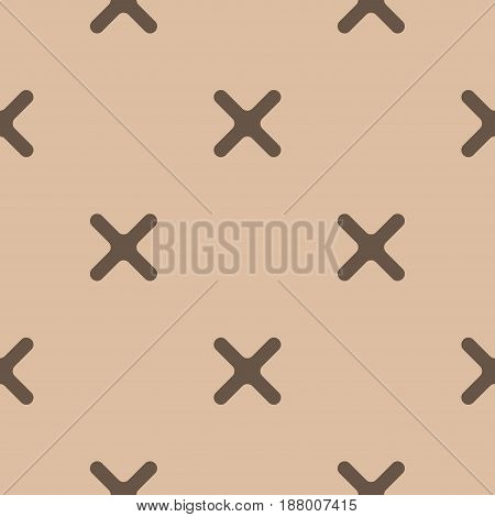 Abstract colored seamless pattern. Brown and beige textile print. Vector illustration