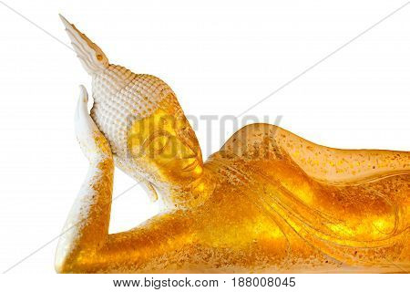 Reclining Buddha On a isolate white background