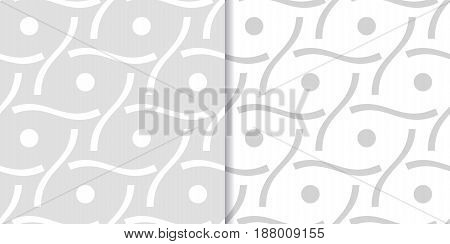 Abstract colored seamless pattern. Gray collection. Vector illustration