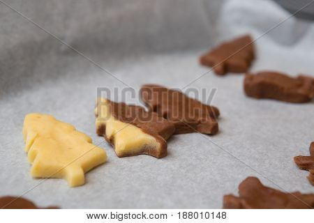 Diverse Flavors of Cutout Holiday Biscuit Christmas Trees