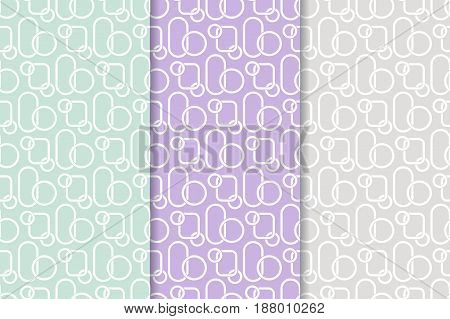 Abstract colored seamless pattern. Collection of colored wallpapers. Vector illustration
