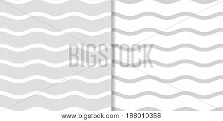 Abstract colored seamless pattern. Background with gray wave lines. Vector illustration