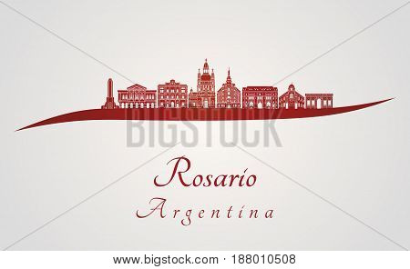 Rosario Skyline In Red