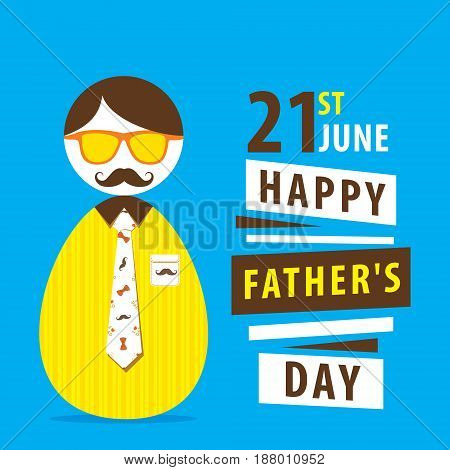 happy fathers day greeting or poster design