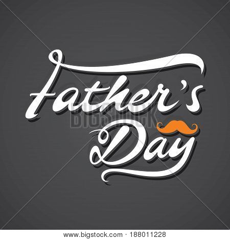creative happy fathers day poster with mustache design