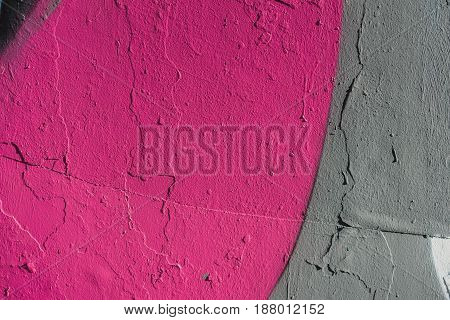 Abstract grunge texture background with grey and pink color tones. Aged paint on old rough dirty metal surface close-up, with space for copy