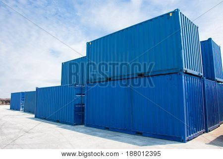 container international for shipping import export box.