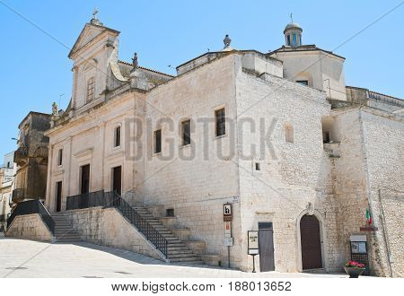 Mother church of Cisternino. Puglia. Southern Italy.