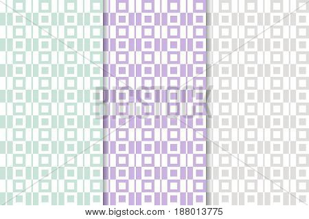 Checkered fabric background. Colored seamless pattern. Vector illustration