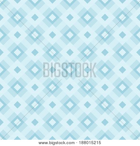 Checkered fabric background. Blue seamless pattern. Vector illustration