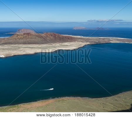 La Graciosa Island View In Lanzarote, Spain