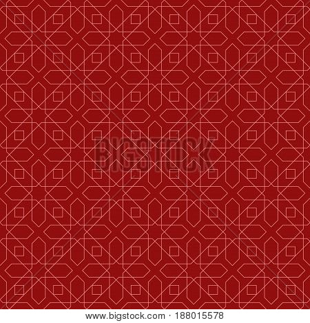 Arabic seamless patterns. Red ornaments for textile and fabric. Vector illustration