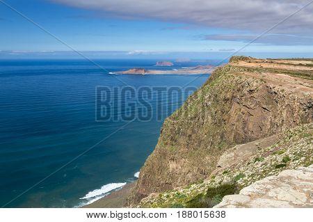 Famara Cliffs View In Lanzarote, Spain