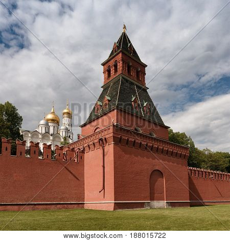 Tower Of The Moscow Kremlin.