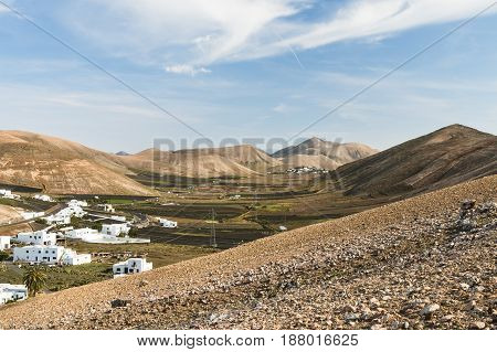 Femes View In Lanzarote, Spain
