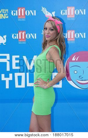Giffoni Valle Piana Sa Italy - July 28 2013 : Francesca Monte at Giffoni Film Festival 2013 - on July 28 2013 in Giffoni Valle Piana Italy