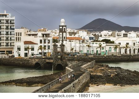 Arrecife City In Lanzarote, Spain, Editorial
