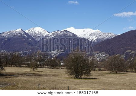 Landscape Near Quartino (switzerland, Ticino)