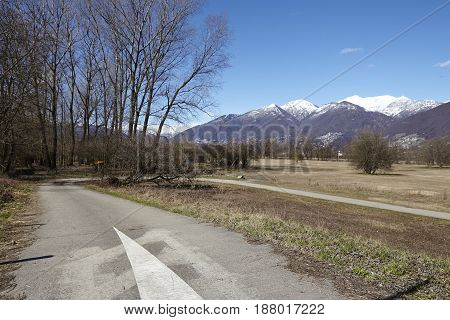 Cycle Path And Footpath Near Quartino (switzerland, Ticino)