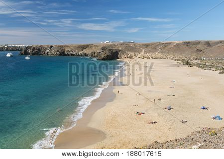 Playa Mujeres In Lanzarote, Spain, Editorial