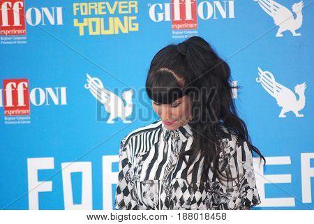 Giffoni Valle Piana Sa Italy - July 28 2013 : Baby K at Giffoni Film Festival 2013 - on July 28 2013 in Giffoni Valle Piana Italy