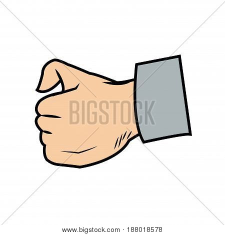 cartoon hand man physician image vector illustration