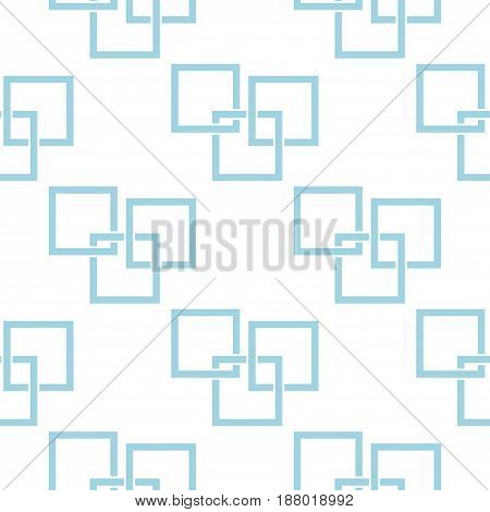 Geometric seamless pattern. Blue and white abstract background with square elements. Vector illustration