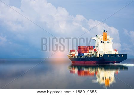 ship with container import export goods to custom .