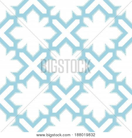 Arabic seamless patterns. Blue and white ornaments for textile and fabric. Vector illustration