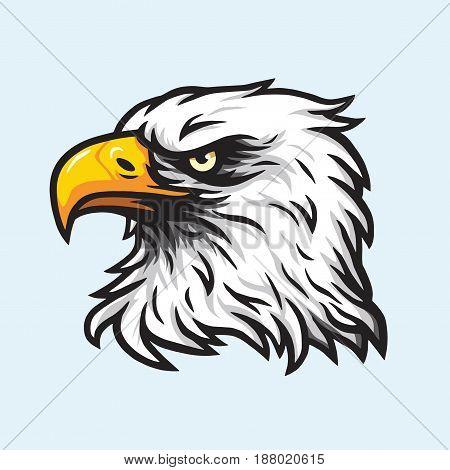 Eagle Head Mascot Vector Logo Design Illustration
