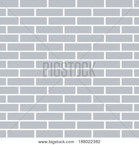 Gray brick wall background. Flat and solid color vector illustration.